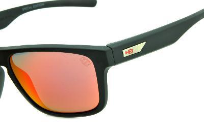 2748ab935 ... Óculos HB 90112 H-BOMB Preto fosco e lente vermelha espelhada edição  Tony Kanaan ...