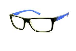 Óculos HB M93 024 Polytech preto fosco com haste azul fosco e logo de metal df751f3de4