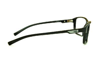 ... Óculos HB M93 100 Gloss Black Polytech preto brilhante com detalhe na  haste cinza aea4a166ef