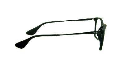 Óculos Ray-Ban RB7053 acetato gatinho preto fosco haste de metal c9884e4696