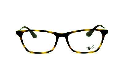 c72310f043b16 ... Óculos Ray-Ban RB7053 acetato tartaruga demi efeito onça estilo gatinho  com haste de metal ...