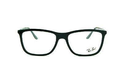 bfeed8069 ... Óculos Ray-Ban RB7061 acetato preto com haste de metal preta e mola  flexível ...