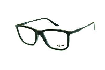 4efc19e9c Óculos Ray-Ban RB7061 acetato preto com haste de metal preta e mola  flexível ...