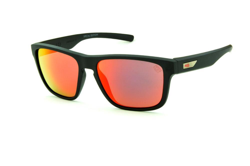 2f91e8d66 Óculos HB 90112 H-BOMB Preto fosco e lente vermelha espelhada edição Tony  Kanaan
