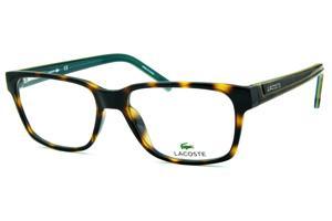 30c64fab4b17f Armação e óculos cor tartaruga onça   Óculos Quadrado Retangular   Masculino    Lacoste