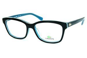 Óculos Lacoste L2745 Preto e azul com friso branco e logotipo jacaré dourado 43c046f28a