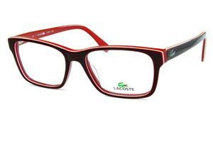 08c037d4bc121 Óculos Lacoste L2746 Vermelho e bordô com friso branco e logo de metal