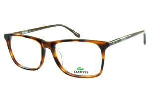 Óculos Quadrado Lente   Armação de óculos de grau Lacoste   Masculino    Tartaruga Onça 3c0048275e
