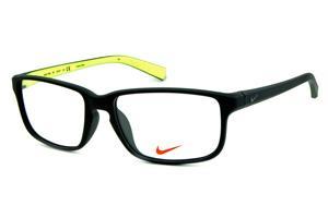 c31c24c5432d4 Óculos Nike 7095 Preto fosco com verde fluorescente no interno das hastes e  logo de metal