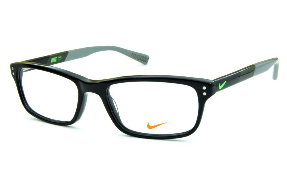 Óculos Nike 7237 Preto com haste cinza e chumbo e logo verde fluorescente 82f2b702d4