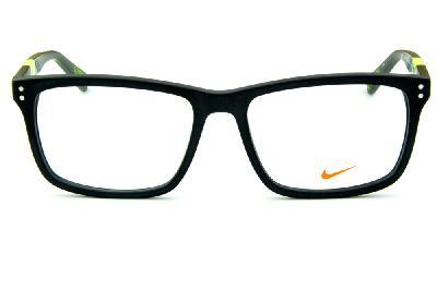 ... Óculos Nike 7238 Preto fosco com haste cinza e verde fluorescente ... e831264346