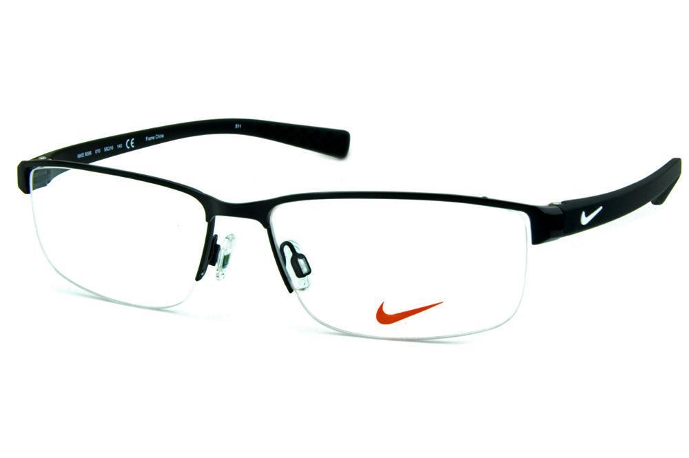 Óculos Nike 8098 metal preto fio de nylon com haste em grilamid e logo  branco 341768f113