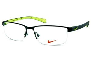 2d9404268 Óculos Nike 8098 metal preto fio de nylon com haste em grilamid cinza e  verde fluorescente