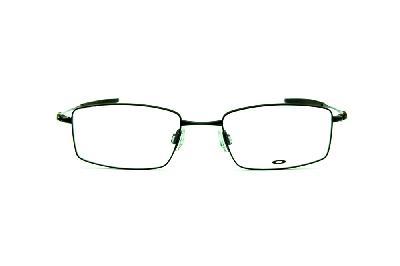 e0757d0a0ac57 ... Óculos Oakley OX3136 Polished Black metal preto brilhante com ponteira  emborrachada ...