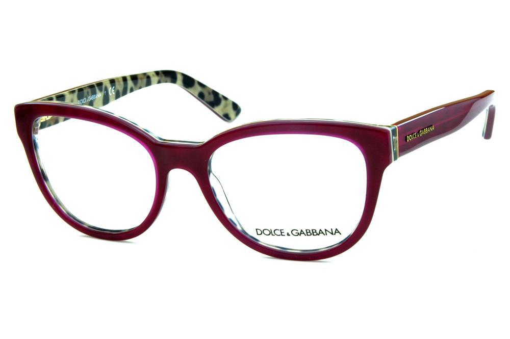 3bdd073562445 Óculos Dolce   Gabbana DG3209 Bordô onça na parte interna