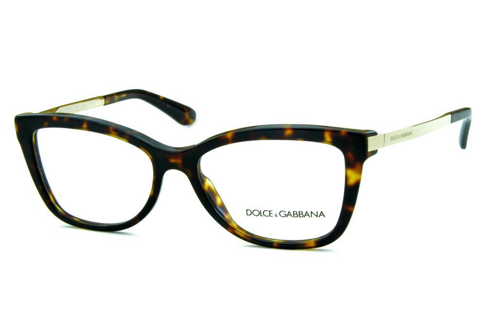 bf8b9204d92e8 Óculos Dolce   Gabbana DG3218 Demi tartaruga com hastes de metal dourado