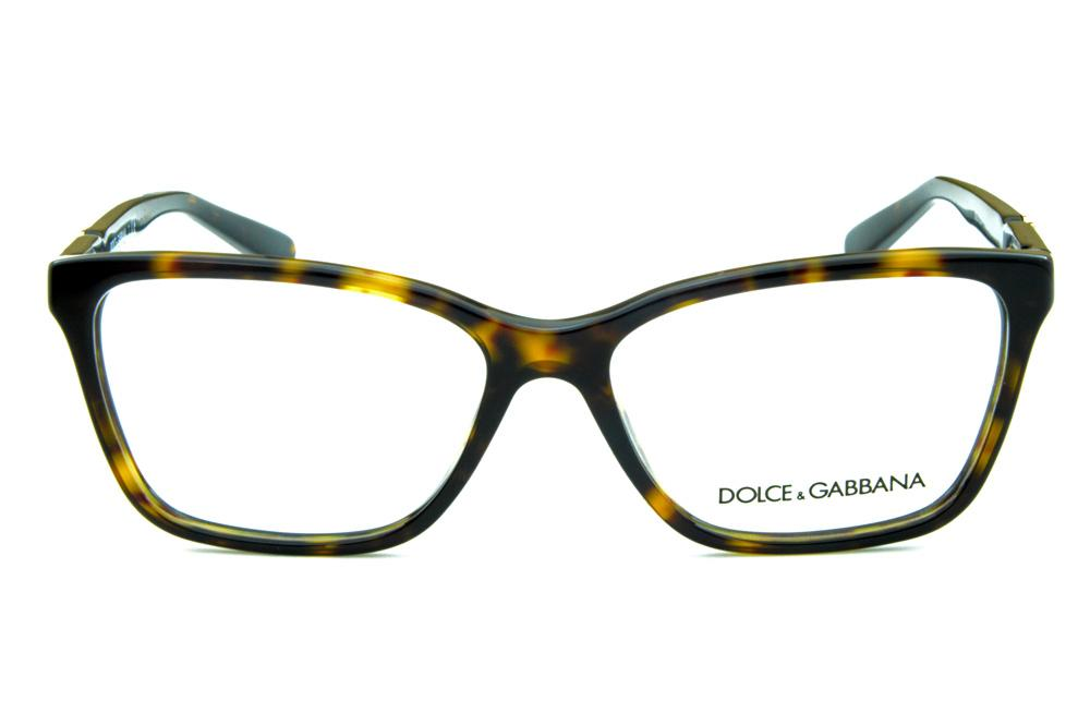 78afbb0e439b3 Óculos Dolce   Gabbana DG 3153P onça tartaruga e emblema dourado