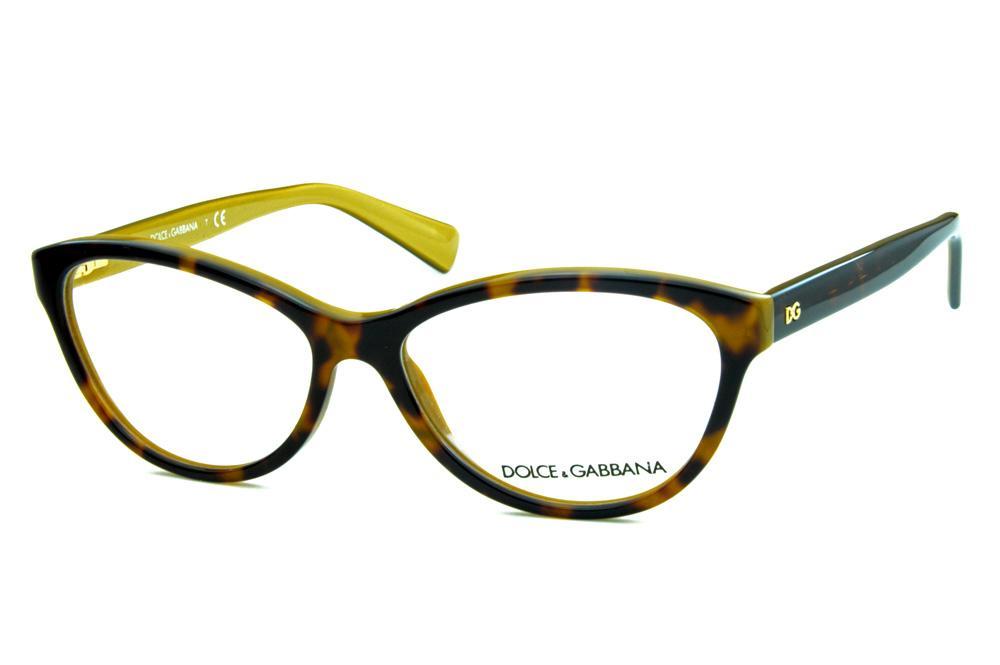 565ecb2b182fc Óculos Dolce   Gabbana DG3232 Marrom tartaruga estilo gatinho