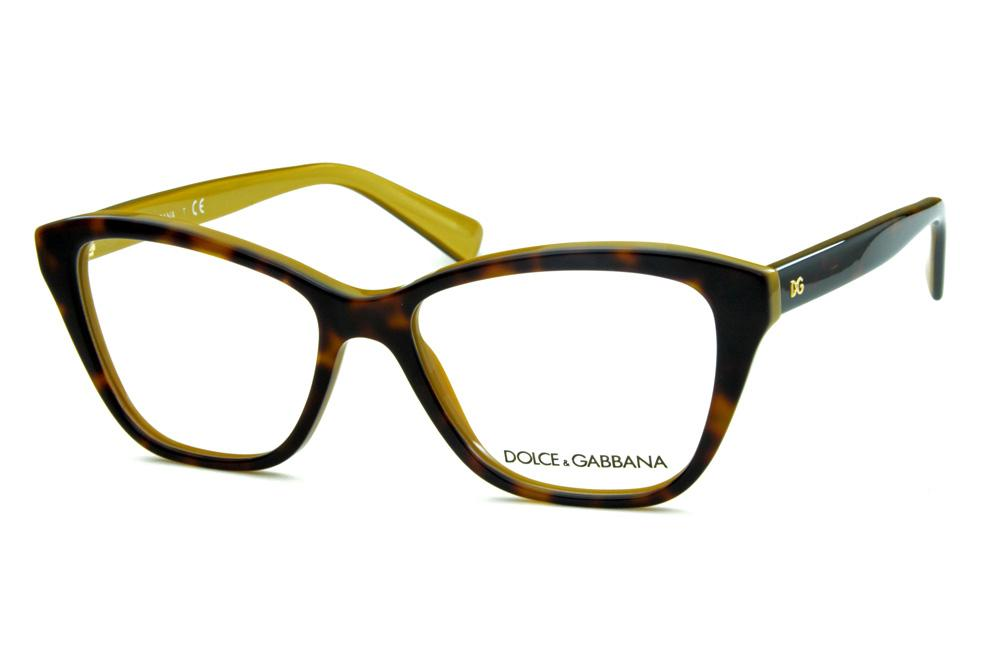 6ad323683cf66 Óculos Dolce   Gabbana DG3249 Marrom demi tartaruga com parte interna bege