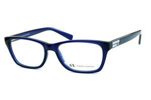 19dd5d5f6ee98 Óculos Armani Exchange AX3006 Azul com detalhe prata nas hastes