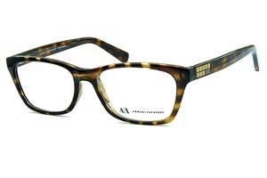 3a4ea7da391 Óculos Armani Exchange AX3006 Marrom demi tartaruga com logo dourado