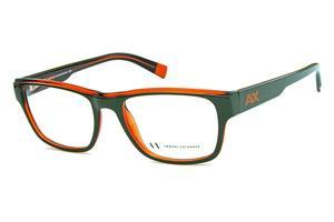 1fa0c565e43 Óculos Armani Exchange AX3018 Verde musgo com interno laranja e logo laranja