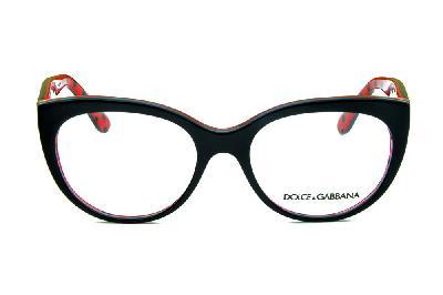 7b0b6e88ee388 ... Óculos Dolce   Gabbana DG3201 Preto com haste vermelha e poa preto  bolinha ...