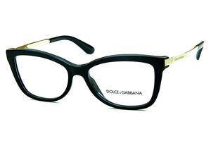 Óculos de Grau Quadrado   Modelos de óculos Dolce   Gabbana   Preto    Feminino b7bc32b211