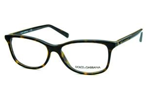 bf8ac307d Óculos Dolce & Gabbana DG3222 Marrom demi tartaruga com logo de metal  dourado