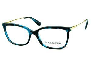 Óculos Dolce   Gabbana DG3243 Azul e preto mesclado com hastes de metal 8dc7e480bc