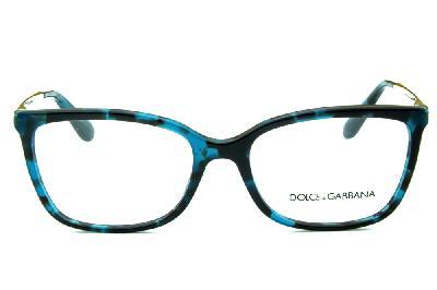 61757bc7a ... Óculos Dolce & Gabbana DG3243 Azul e preto mesclado com hastes de metal  ...