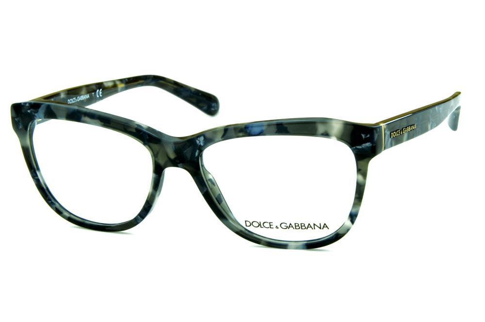 a0598018f Óculos de grau Dolce & Gabbana DG3244 Preto e cinza mesclado com logo metal