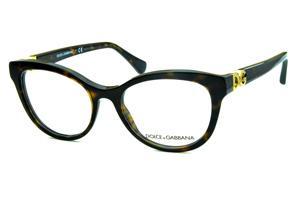 88db3894d Óculos Dolce & Gabbana DG3250 Marrom demi tartaruga com logo de metal  dourado