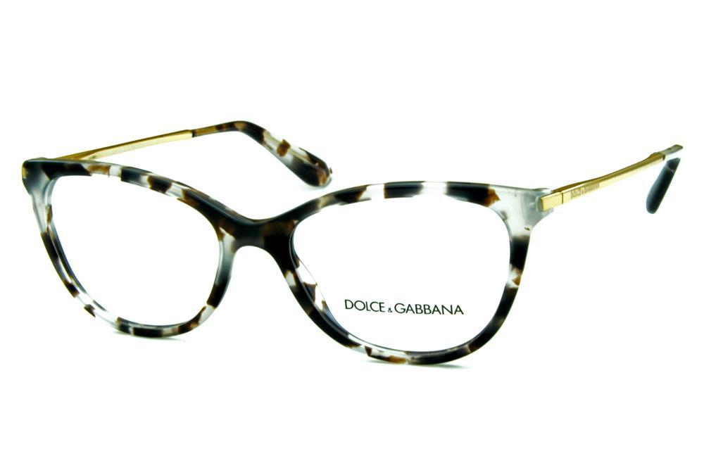 5ace6890555e1 Óculos Dolce   Gabbana DG3258 Cinza Claro e Marrom efeito onça