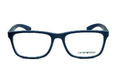 ... Óculos Emporio Armani EA3092 Azul fosco com detalhe de metal no logo e  nas hastes ... 032a4439bc