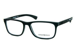 Óculos Emporio Armani EA3092 Preto fosco com logo e detalhe de metal nas  hastes 1569f15e46
