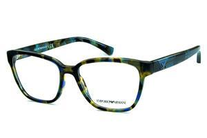 Óculos Azul   Óculos de Grau   Óculos Quadrado Retangular   Emporio ... 6cfe9cfe98