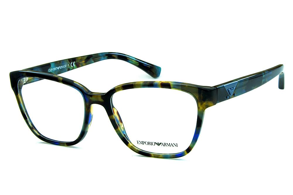 Óculos Emporio Armani EA3094 Tartaruga azul mesclado logo azul 218e1a922e