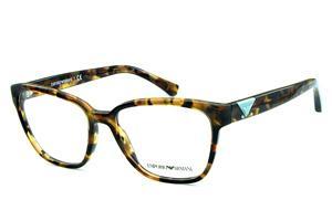 ec8551b2a71 Óculos Emporio Armani EA3094 Demi tartaruga com logo azul claro