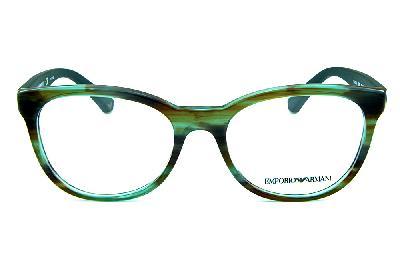 4653083db ... Óculos Emporio Armani EA3105 Verde mesclado com as hastes emborrachadas  em verde musgo ...