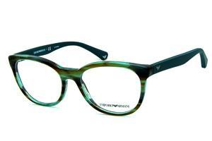 da5da140c Óculos Emporio Armani EA3105 Verde mesclado com as hastes emborrachadas em  verde musgo