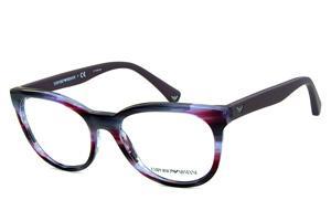 Óculos Emporio Armani EA3105 Lilas e roxo mesclado com hastes emborrachadas  em roxo fosco a2941f6489
