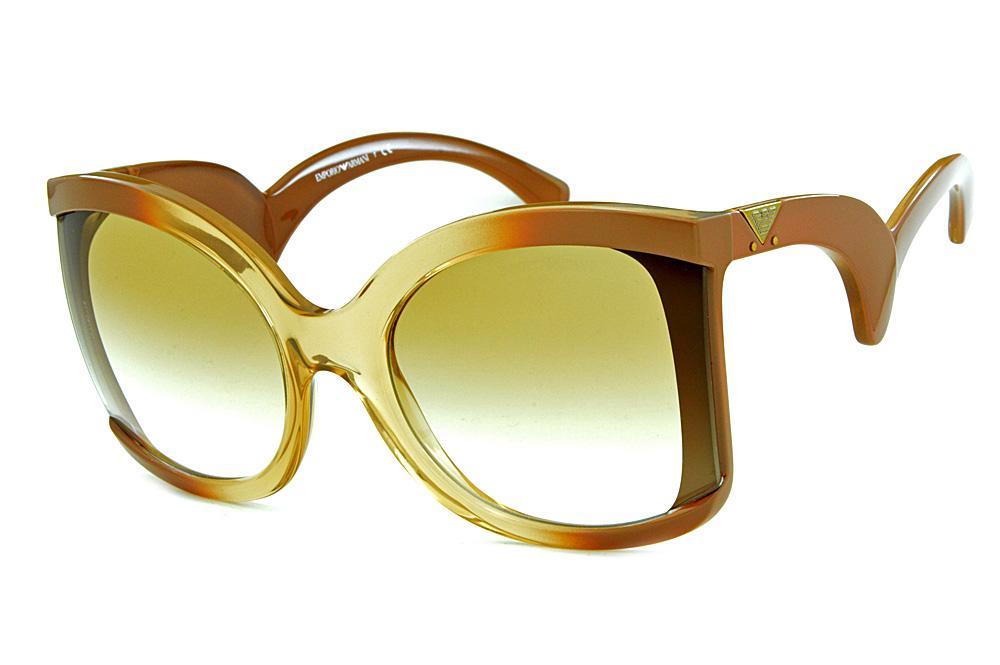 Óculos de sol Emporio Armani EA4083 Marrom com caramelo com lentes degradê cf456492b6