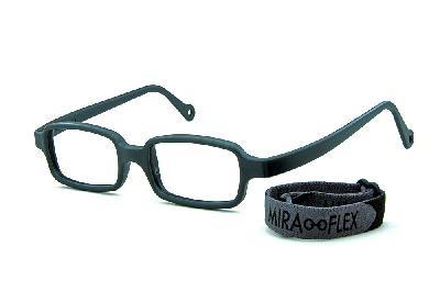 aeabd630c Óculos Miraflex Siliconado INQUEBRÁVEL New Baby 3 45/17 Cinza (de 6 a 10 ...
