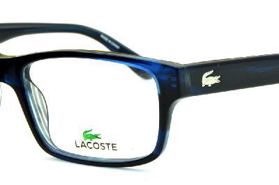 facdf9e87ef6d ... Óculos Lacoste L2705 Azul marinho com logo de metal na haste ...