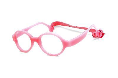 fa5ea0047 ... Óculos Infantil Miraflex Rosa em silicone Baby Lux 2 40/14 (de 5 a ...