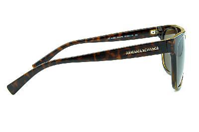 53e9b10d3f4 ... Óculos de Sol Armani Exchange AX4043S Demi tartaruga com dupla ponte  estilo gatsby com logo dourado ...