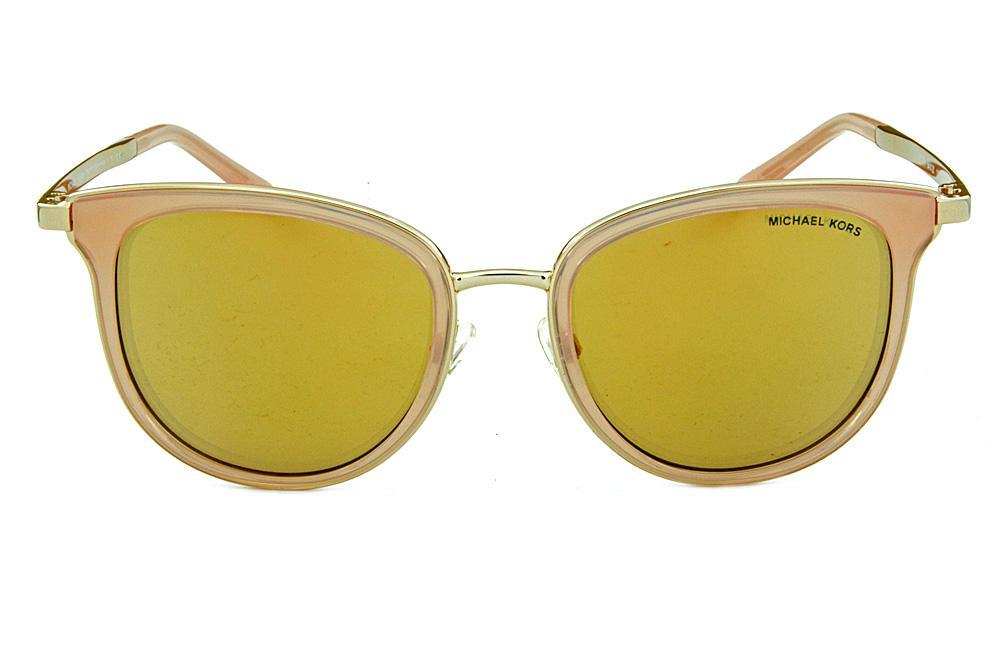 e378b349c23b4 Óculos de Sol Michael Kors MK1010 Adrianna 1 Dourado lentes rosê
