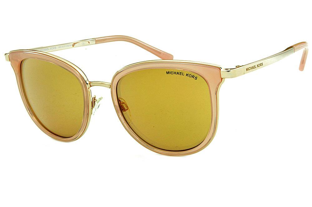 4d627e4410b4b Óculos de Sol Michael Kors MK1010 Adrianna 1 Dourado lentes rosê