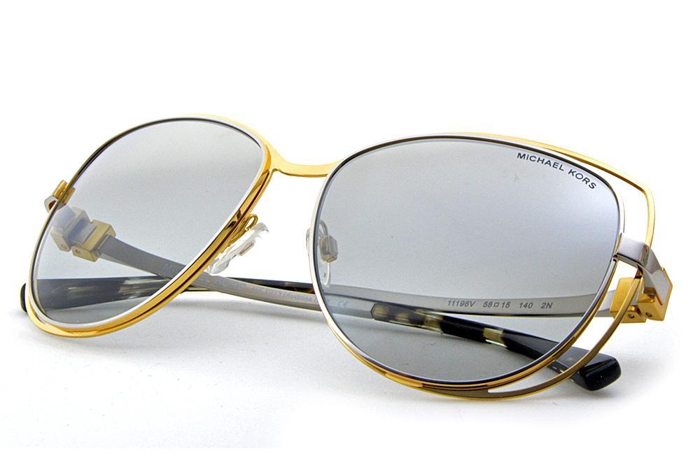 Óculos de Sol Michael Kors MK1013 Audrina1 Metal dourado e prata aee9ffc1d9